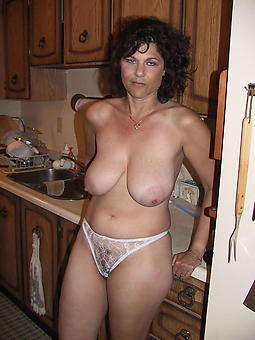 horny mature showing panties seduction
