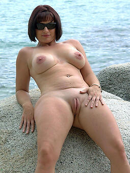 perfect naked mature insusceptible to coast photo